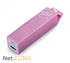 Momax iPower Milk power bank 2600 mAh, pink