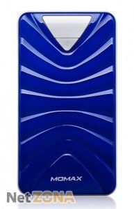 Momax iPower Turbo С power bank 13200 mAh, blue