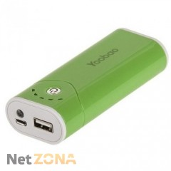 Yoobao  Power Bank 5200 mAh Bright Moon YB-622, green