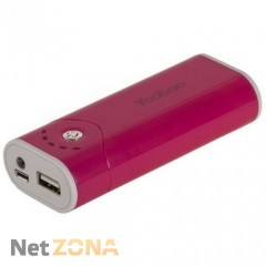 Yoobao  Power Bank 5200 mAh Bright Moon YB-622, red